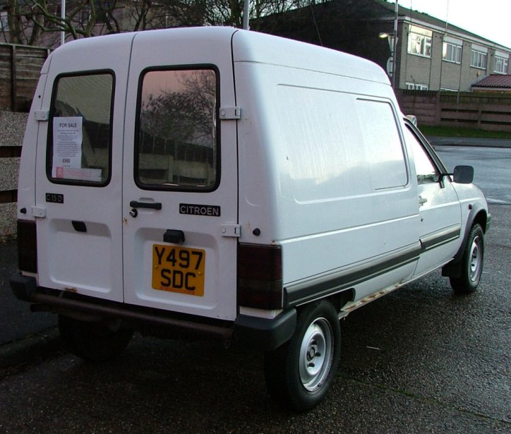for sale 2001 citroen c15 van 1 9 diesel in white retro rides. Black Bedroom Furniture Sets. Home Design Ideas